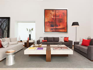 Casa RR: Salas de estilo moderno por MM estudio interior