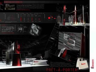 Concurso Veteco Riventi Salas multimedia de estilo moderno de Angel Melero Hurtado Moderno