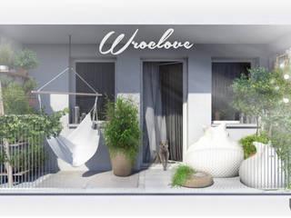 wizualizacja aranżacji balkonu: styl , w kategorii  zaprojektowany przez kART LANDSCAPE DESIGN