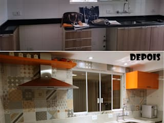 Suelen Kuss Arquitetura e Interiores Modern kitchen MDF Orange