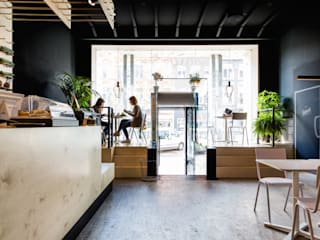 SAP bagel & juicebar Moderne gastronomie van INTER/ALTER interior architects Modern