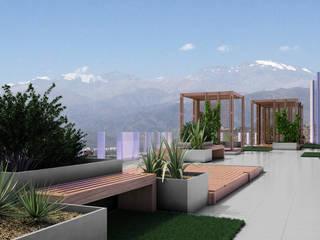 Proyecto Terraza Oficinas Portal Inmobiliario Balcones y terrazas modernos de Ensamble Arquitectura y Diseño Ltda. Moderno