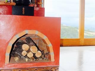 Cocinas de estilo rural de Valquiria Leite Arquitetura e Urbanismo Rural
