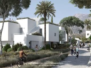 Calle de la urbanización: Casas de estilo  de TUAN&CO. arquitectura