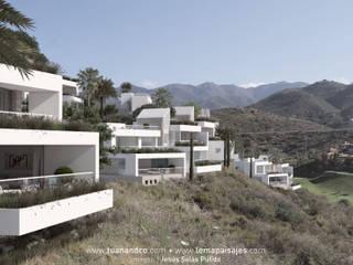 Vista exterior de la urbanización: Casas de estilo  de TUAN&CO. arquitectura