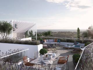 Vista de una azotea: Terrazas de estilo  de TUAN&CO. arquitectura