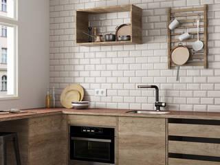 Metro Cream 7,5x15 Cocinas de estilo rústico de Equipe Ceramicas Rústico Cerámico