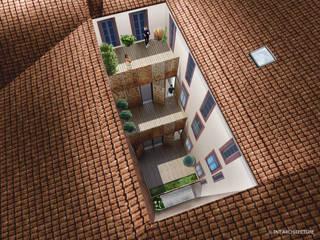 Restructuration de la cour:  de style  par officine TNT Architecture