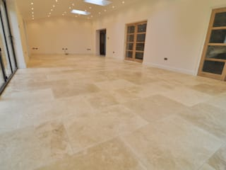 Living/ dining room design ideas with travertine tiles:  Dining room by Travertine Store
