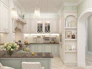 Eclectic style kitchen by Студия дизайна Дарьи Одарюк Eclectic