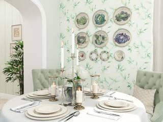Salle à manger de style  par Студия дизайна Дарьи Одарюк,