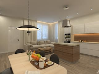 Каширское шоссе 180м2: Кухни в . Автор – HOUSE&HOME