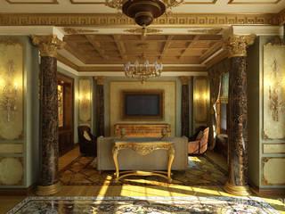 ДИЗАЙН ЗАГОРОДНОГО ДОМА В КЛАССИЧЕСКОМ СТИЛЕ Гостиная в классическом стиле от Студия дизайна 'Линия интерьера' Классический