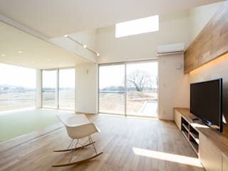 TKD-ARCHITECT Modern living room لکڑی