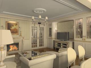 ДИЗАЙН КВАРТИРЫ В КЛАССИЧЕСКОМ СТИЛЕ Гостиная в классическом стиле от Студия дизайна 'Линия интерьера' Классический