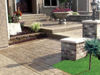 Precios m2 por hormigon impreso Hormigon impreso Cris Balcones y terrazas de estilo rústico