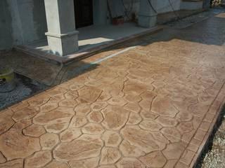 Hormigon impreso Paredes y suelos de estilo rústico de Galistar Pavimentos Rústico