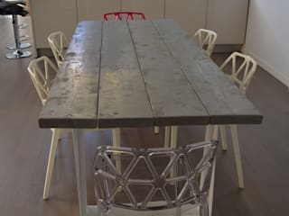 Elena Valenti Studio Design Dining roomTables Solid Wood Grey