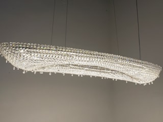 Artica crystal chandelier in a yacht Manooi Kapal Pesiar & Jet Modern Transparent