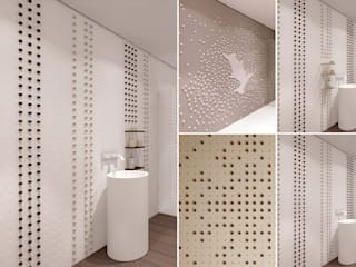 Pixel Tiles Modern bathroom by Alessandro Isola Ltd Modern