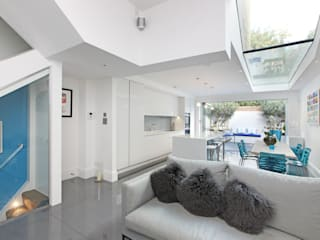 Battersea Town House Salas de estar modernas por PAD ARCHITECTS Moderno