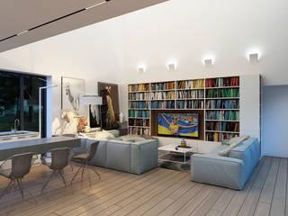 Дом во Львове (интерьер) Гостиная в стиле минимализм от ALEXANDER ZHIDKOV ARCHITECT Минимализм