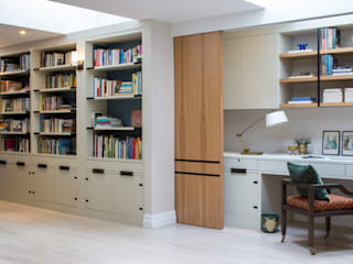 East Sheen - Home Office / work area: modern Study/office by Roselind Wilson Design