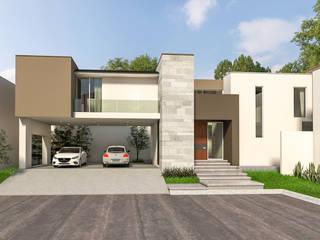 Minimalistyczne domy od Indigo Arquitectos Minimalistyczny