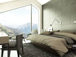 Minimalist bedroom by MONOstudio Minimalist