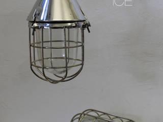 """STREHLA L ICE"" Industrie Fabrik Bunker Lampe Aluminium poliert:  Gastronomie von Lux-Est"