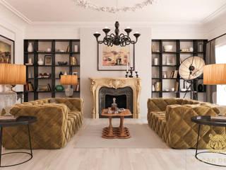Salon w stylu francuskim - nowoczesnym: styl , w kategorii  zaprojektowany przez Macan Design Krystian Suchenia