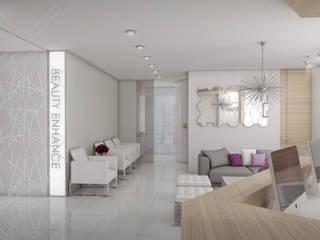 Recepción / Sala de espera: Clínicas / Consultorios Médicos de estilo  por CDR CONSTRUCTORA