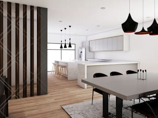 Dining room by CDR CONSTRUCTORA