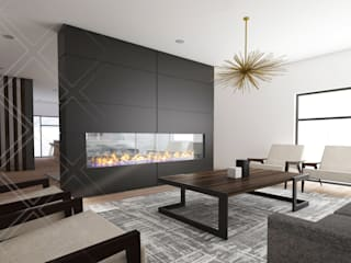 Living room by CDR CONSTRUCTORA