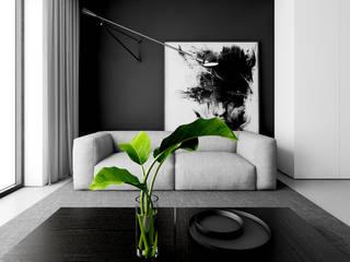APARTAMENT W ŁODZI: styl , w kategorii Salon zaprojektowany przez INUTI