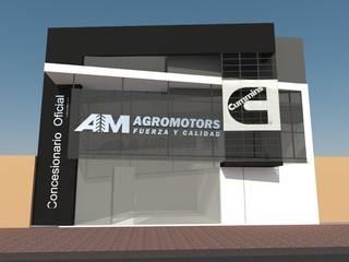 Local Comercial y Departamento Galerías y espacios comerciales de estilo moderno de Arq. Jose F. Correa Correa Moderno