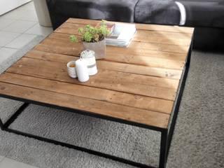 Table basse bois métal:  de style  par L'Atelier Zora