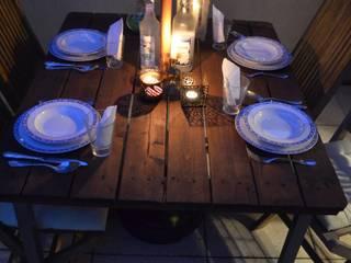 Table de jardin en palette:  de style  par L'Atelier Zora