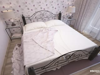 Country style bedroom by Студия Ксении Седой Country