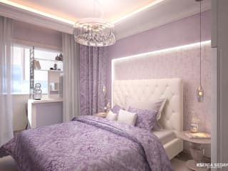 Eclectic style bedroom by Студия Ксении Седой Eclectic