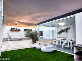 Balcones y terrazas de estilo mediterráneo de Ideas Interiorismo Exclusivo, SLU Mediterráneo
