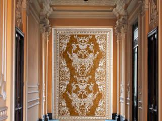 Mediterranean corridor, hallway & stairs by Elalux Tile Mediterranean