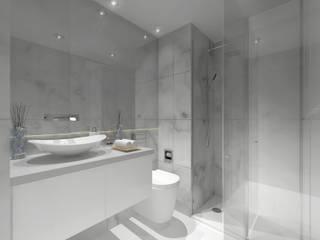Remodelação Apartamento Principe Real: Casas de banho  por Projectos Arquitectura & 3D