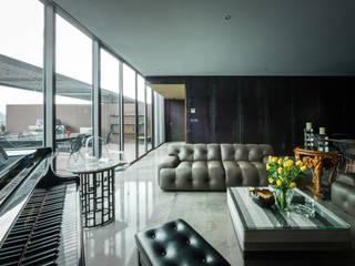 PH Fuentes Salones modernos de pmasceroarquitectura Moderno
