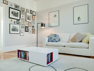 Dunollie Place, Kentish Town, London - NW5 Salas de estilo moderno de Brosh Architects Moderno