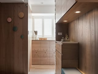 折‧日景   Transition Luminos View:  走廊 & 玄關 by 禾光室內裝修設計 ─ Her Guang Design