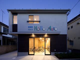焼杉を使った店舗付き住宅|世田谷のShop&House モダンな 家 の シーズ・アーキスタディオ建築設計室 モダン
