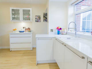 Bright and Light Eco German Kitchens Modern kitchen MDF White