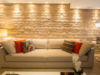 Cris Nunes Arquiteta Living roomLighting