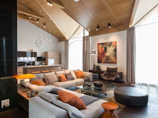 Номинация новаторство: интерьер дома до 300 м Modern Living Room by Archiprofi Modern